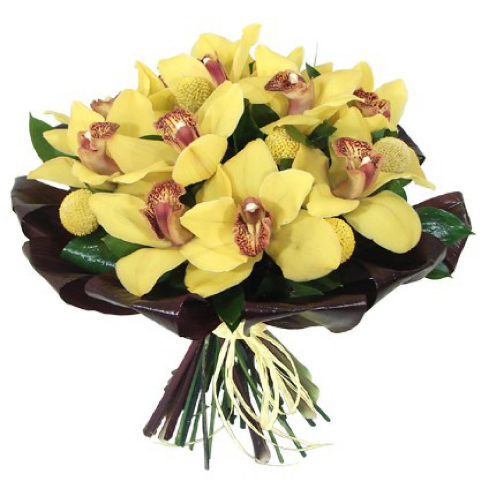 Букет из желтых орхидей