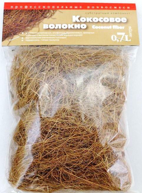Кокосовые волокна и чипсы для субстрата